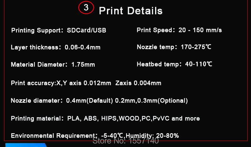 Print size :220*220*300mm !! Aluminium Updated Extruder 3D Printer DIY KIT LCD Screen Auto Leveling Model with 20M 3D Filament