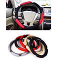 Universal Car Steering Wheel Cover 38cm 15 3D Sandwich Steering Wheel Cover sport stuurhoes Breathable Skidproof