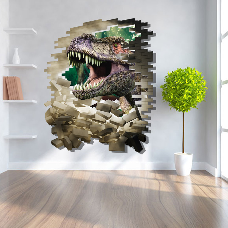 3d wall stickers dinosaur cartoon floor stickers for for 3d garden decoration