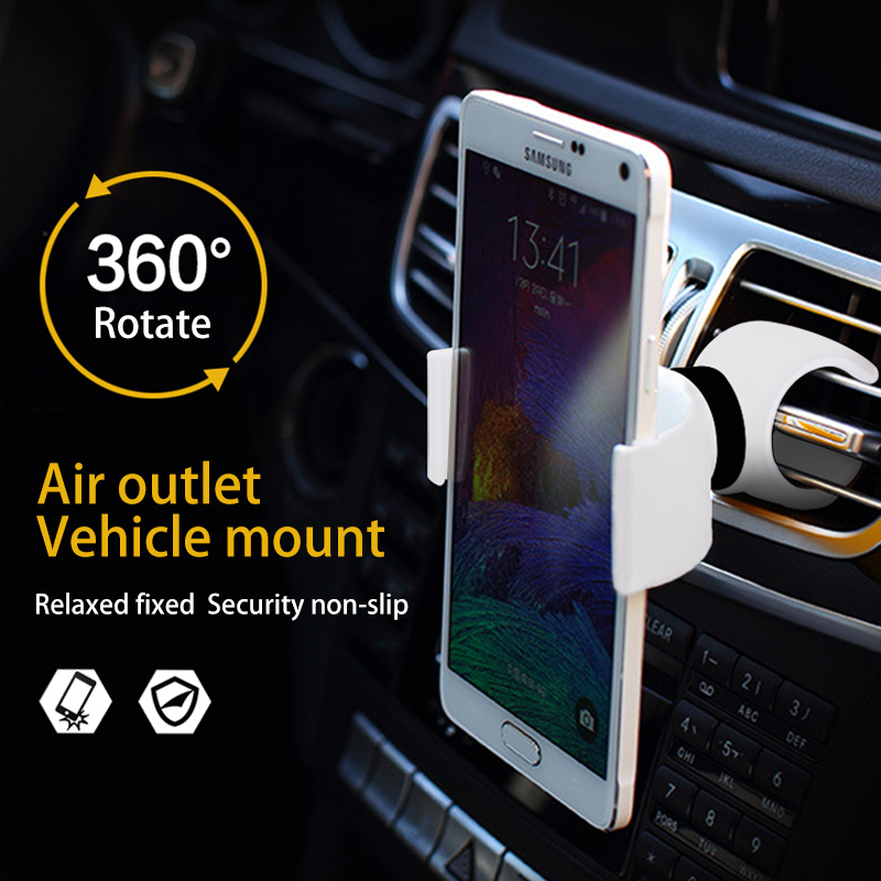Universal 360 Degrees Air Vent Mount Bicycle Car Cell Phone Holder Stands for iPhone 4 5 6 Mobile Phone Clip For Samsung HTC(China (Mainland))