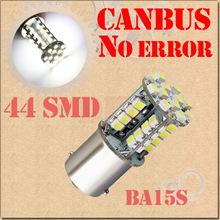 1156 BA15S P21W 44 SMD Pure White CANBUS OBC No Error Signal Car 44 LED Light Bulb Parking Car Light Source(China (Mainland))