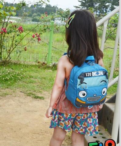 TAYO bus design baby school girls boys backpacks car children school bags cartoon baby kindergarten backpack mochila escolar