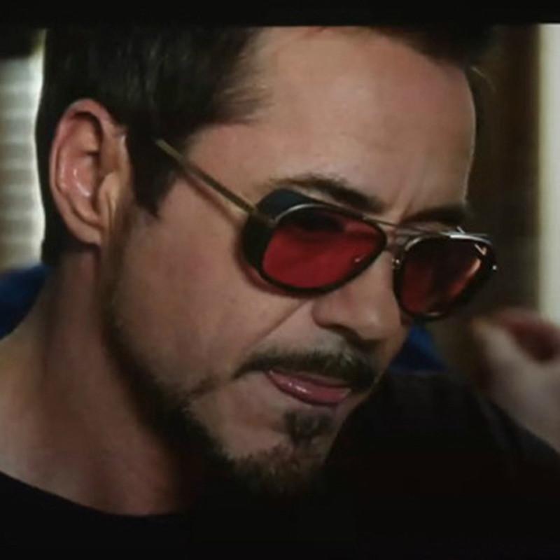 2015 new IRON MAN TONY Sunglasses Men Mirrored Brand Glasses Vintage Sun glasses oculos de sol masculino(China (Mainland))