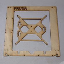 Prusa i3 Rework 3D printer  laser cut single frame kit RepRap Prusa i3 wooden Single Sheet Frame 3D Printer DIY 6 mm