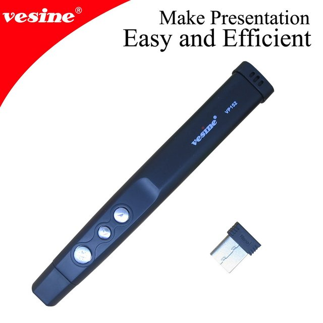 Free Shipping! NEW  (3pcs)Wireless Red Laser Pointer vp152 with page up/down and   mini  receiver wholesale&retail