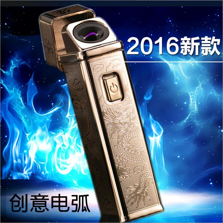 USB rechargeable lighter creative arc wind metal electronic cigarette lighter wholesale custom gift male tide(China (Mainland))