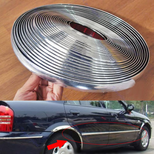 Free Shipping Silver Car Auto Chrome Moulding Trim Strip DIY 15M 6mm For Window Bumper Grille(China (Mainland))