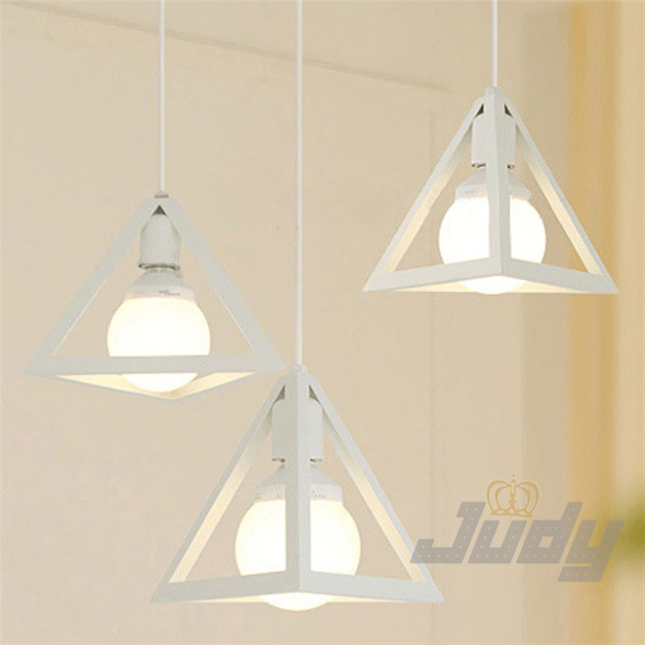 com buy angle iron pendant lamps e27 110 240v black and white