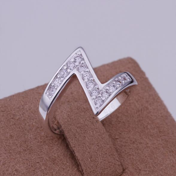 """Low Price! Wholesale 925 Silver Inlaid Stone """"Z"""" Ring , Fashion Jewelry Classic Free shipping R154(China (Mainland))"""