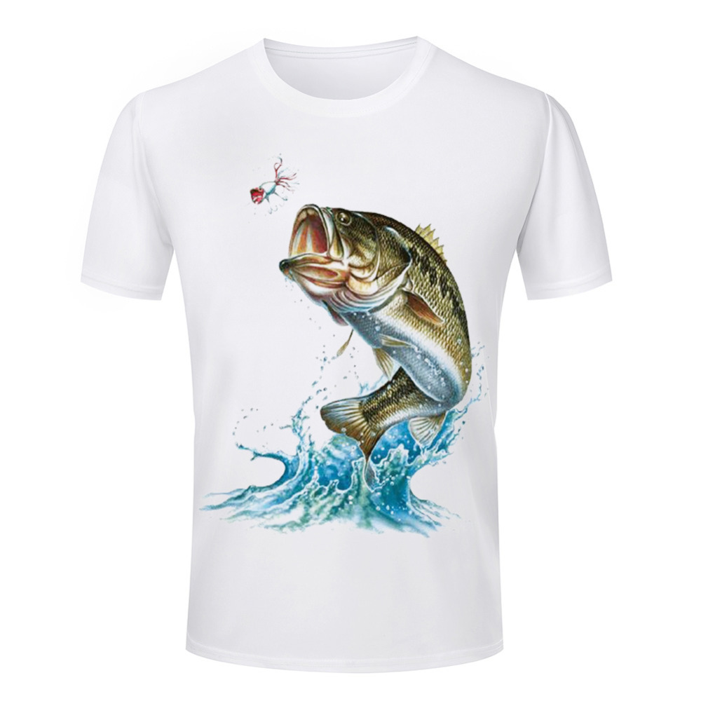 Cheap hot selling men 39 s t shirts 3d fish animal printed for Print t shirt cheap