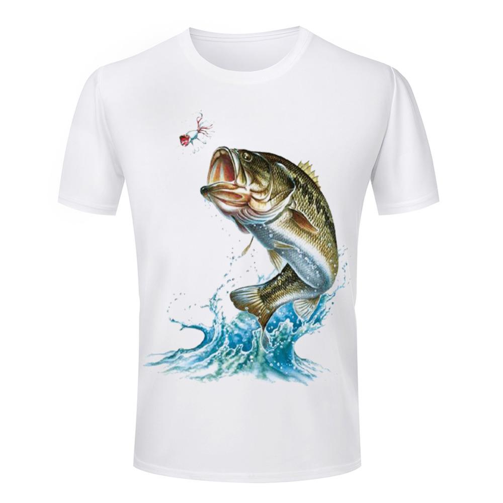 Cheap Hot Selling Men's T Shirts 3d fish Animal Printed Round Neck Shirts Summer Style Clothes casual short sleeve Man(China (Mainland))