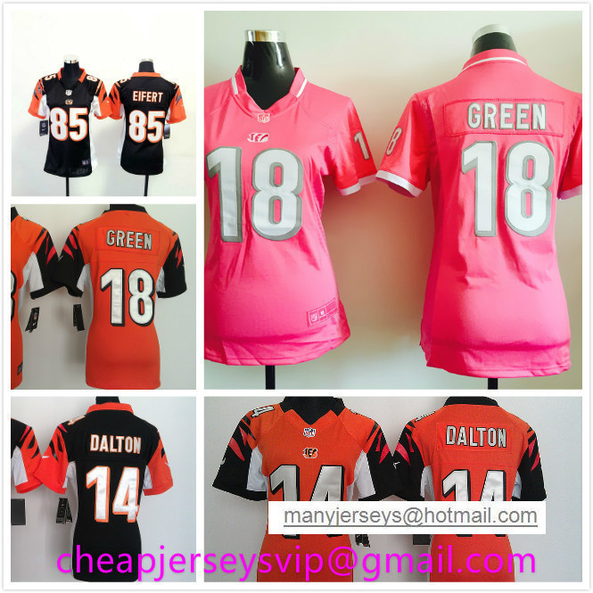 Stitched Women Cincinnati Bengals AJ Green A. J. Green Andy Dalton Tyler Eifert Rey Maualuga Dre Kirkpatrick For Ladies Girls(China (Mainland))