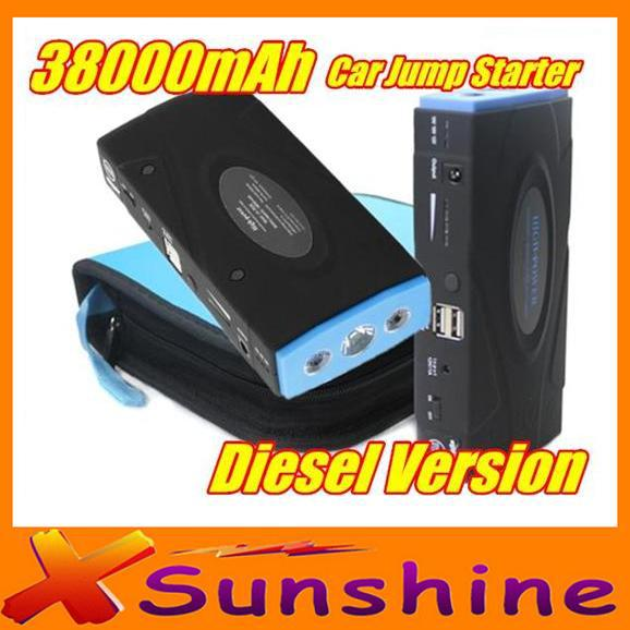 2015 Emergency Charge Supply Car Jump Starter 38000mAh Mobile Power Bank Works For Petrol & Diesel Car / Motorcycle / Digital(China (Mainland))