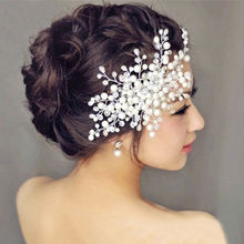 1Pcs 2 Styles Charm Women Bride Crystal Pearl Rhinestone Bridal Wedding Hair Comb Hair Pins Accessories(China (Mainland))