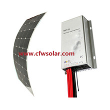 flexible solar panel 110W, with 12V&24V Auto MPPT solar charege controller, with connection Box+0.9M cable, MC4 connector,