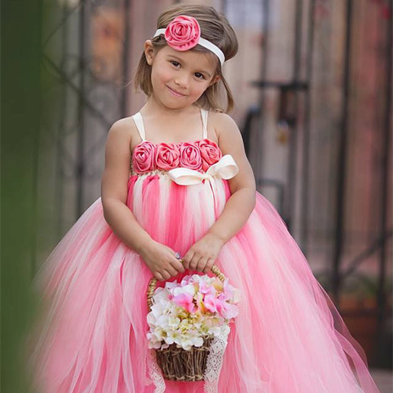 Hot Pink Toddler Flower Girl Dresses 51