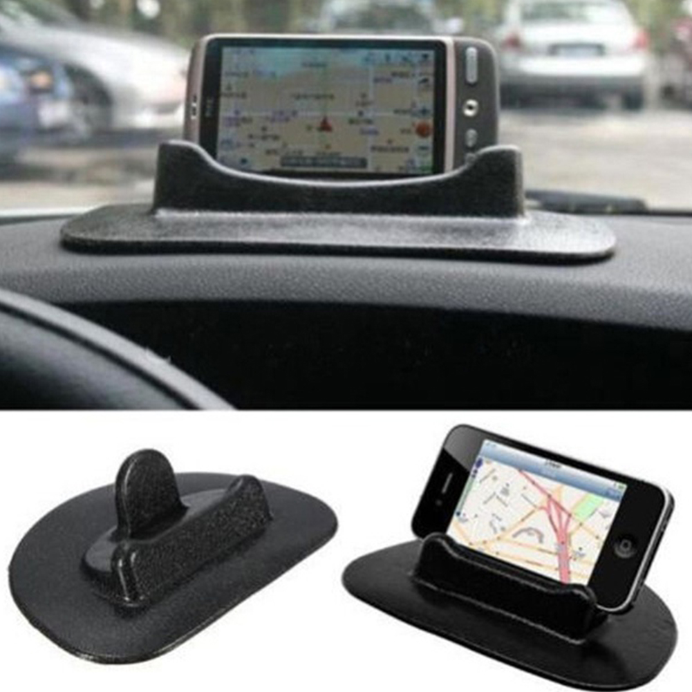 New Black Car Mobile Phone Holder Dashboard Sticky Pad Mat Anti Non Slip Gadget GPS Interior Item Accessories(China (Mainland))