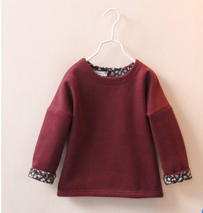 S 30665332 Wholesale 2015 New Autumn Girls Hoodies Solid Full Sleeve Casual Girls Tops Sweatshirts Children Clothes Supplier Lot(China (Mainland))
