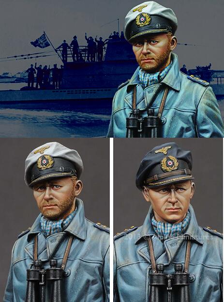 Free Shipping 1/16 Scale Resin Figure Captain of the German U - submarine(China (Mainland))