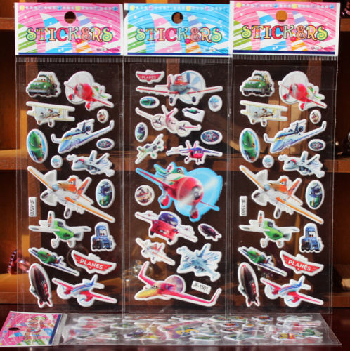 Wholesale Helicopter 3D Cartoon Game Stickers Kids Crafts Gift Reward Sticker A-F432(China (Mainland))
