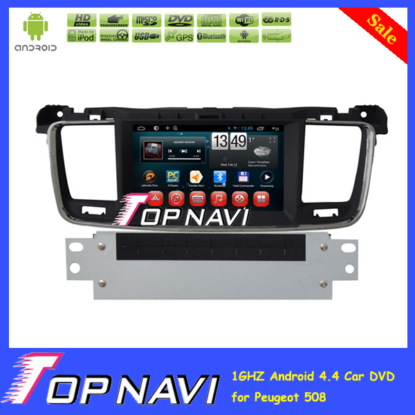 2015 Top Gift Free Shipping Capacitive Screen Dual Core Android 4.2 Car DVD Player For Peugeot 508 With GPS 3G Wifi BT Free Map<br>