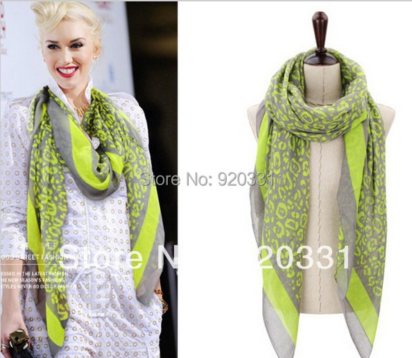 Min order usd15.0(mix order) Fashion Cheap Leopard Printed Women/Ladies Neon Tube Scarf/shawl - Emily Store store