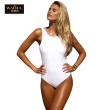 2016 New Summer Europe America Women Sexy Sleeveless Deep V-neck Solid Mini Traingle Swimsuits Jumpsuit Tight Bodysuit One Piece(China (Mainland))