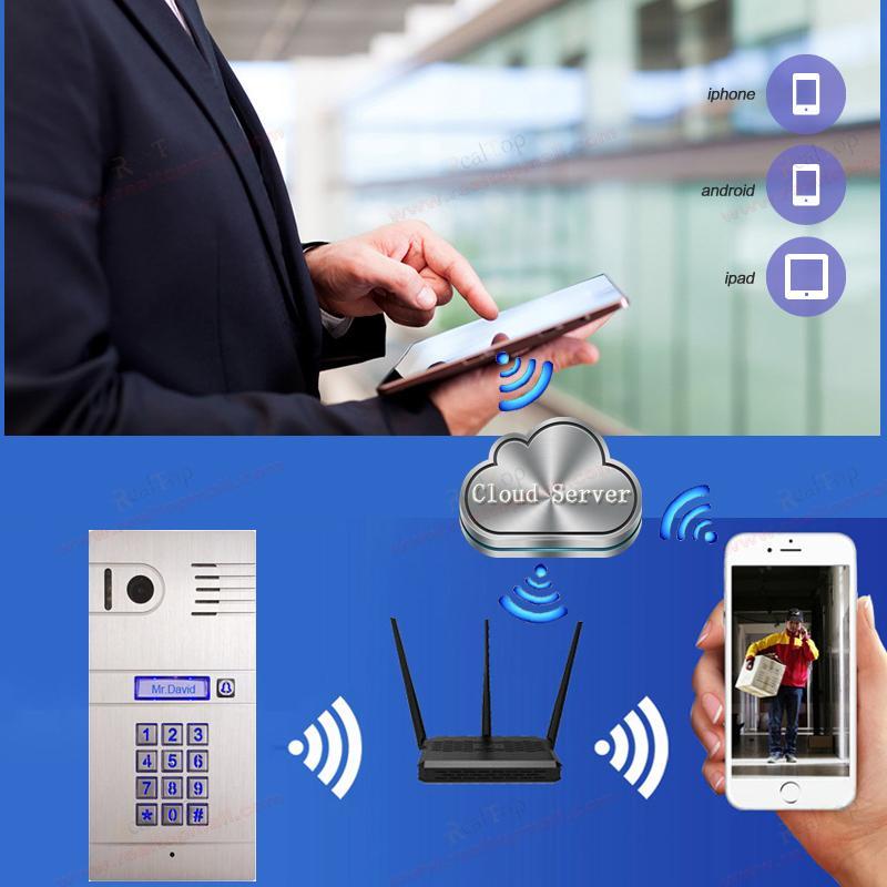 IP Video Door Phone 3G/4G Wireless WiFi IP intercom system,remotely unlock door by smartphone/tablets,wireless intercom system(China (Mainland))