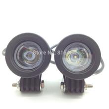 2X CREE LED Universal Motorcycle Fog Light Auxiliary Lamp Aluminium Housing 10-30V Motorbike Headlight Truck Round Spot Light(China (Mainland))