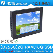 "2mm LED Panel embeded Windows XP or 7 PC 4:3 with 12"" All-in-one 4-wire resistive touch screen D2550 1.86Ghz CPU 2G RAM 16G SSD(China (Mainland))"
