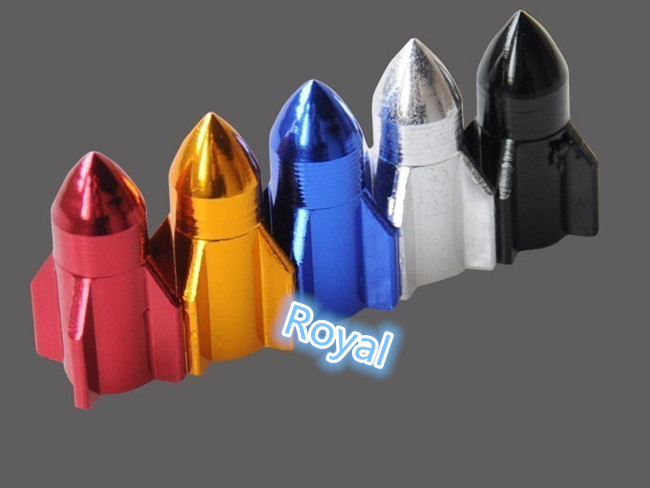 4PCS CAR BICYCLE MOTORCYCLE BULLET FASHION STYLE WHEEL TYRE TIRE VALVE STEM CAPS AIR DUST COVER SILVER BLACK GOLDEN RED BLUE(China (Mainland))