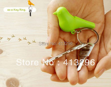 free fedex.Free shipping two birds house key chain,double bird nests key ring hang on the wall,sparrow bird's with whistle(China (Mainland))