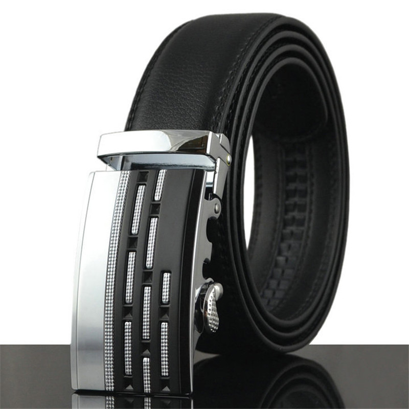 2016 Fashion Style Nice Quality Luxury Brand mens Genuine Leather belts for men,strap male metal Automatic buckle,free delivery(China (Mainland))