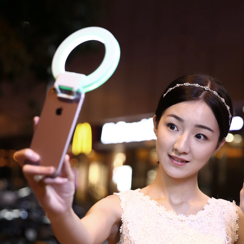 Quality Dimmable LED Selfie Ring Flash Light Supplement Enhancing Photography universal for iPhone Xiaomi for Samsung(China (Mainland))