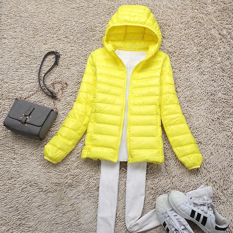 camperas hooded duck down Jacket women 2016 Winter down Coat female down Parka outerwear slim ultra light winter coat 647