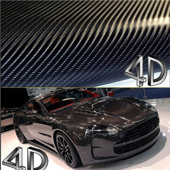 200cm*40cm 4D Carbon Fiber Fibre Vinyl Film 3M Car Sticker Waterproof DIY Car Styling Wrap With Retail packaging Free Shipping