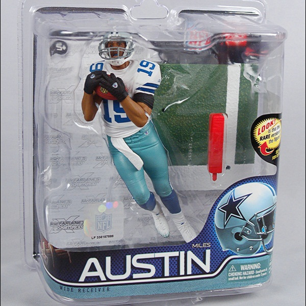 Animation Garage Kid Collection Kids Toys: McFarlane Action Figure PVC Dolls NFL Football Player Miles Austin Model Best Gifts(China (Mainland))