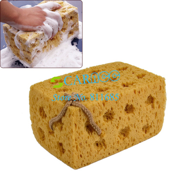 New Car Vehicle Cleaning Tool Washing Sponge Cuboid Coral Yellow Free ShIpping 8736