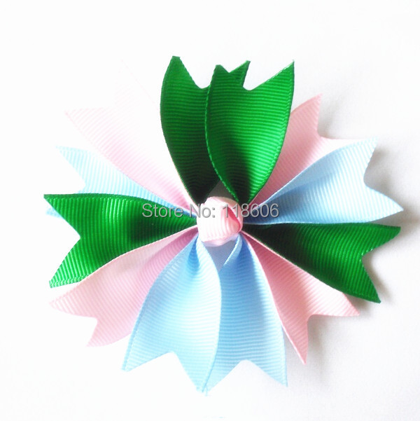 """50PCS/lot 3.5"""" Two Tone Color Spike Hair bow SpringHair Bow Medium Spike Bow Free Shipping(China (Mainland))"""
