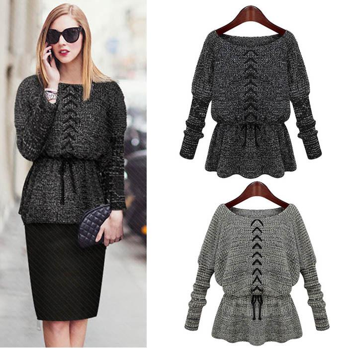 Женский пуловер Women sweater Camisola Batwing Kint women sweater 2014