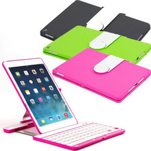 New 360 Degree Swivel Rotating Wireless Bluetooth Keyboard + Plastic Stand Case Cover For iPad Air 2 QJY99(China (Mainland))