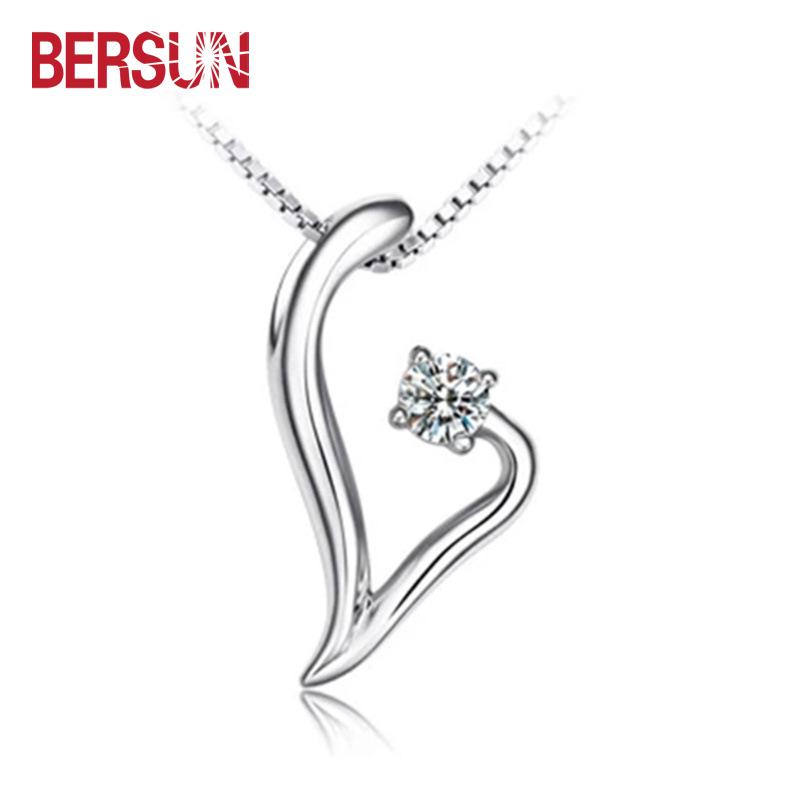 Bersun 2016 New Women Fine Jewelry Fashion Love Dream Rhinestone Crystal Silver Plated Pendant Wholesale(China (Mainland))