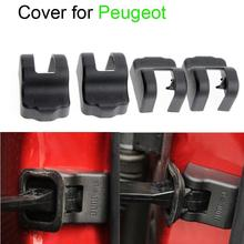 Newest 4pcs/Lot Car styling Top quality Door Check Arm Protection Cover For  Peugeot 208 508 2008 3008 301 308 408 Accessories