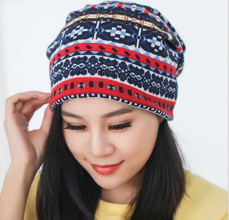 M0268 new amphibious snowflakes cashmere scarf hat sets confined hat scarf hat cap qiu dong pile of pile cap(China (Mainland))