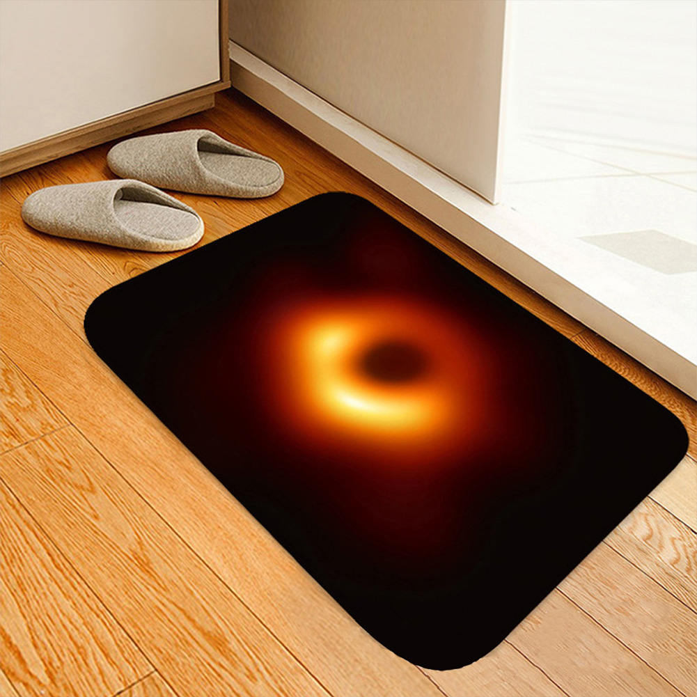 Дверной коврик с черным отверстием принтом для дома естественного пространства aeProduct.getSubject()