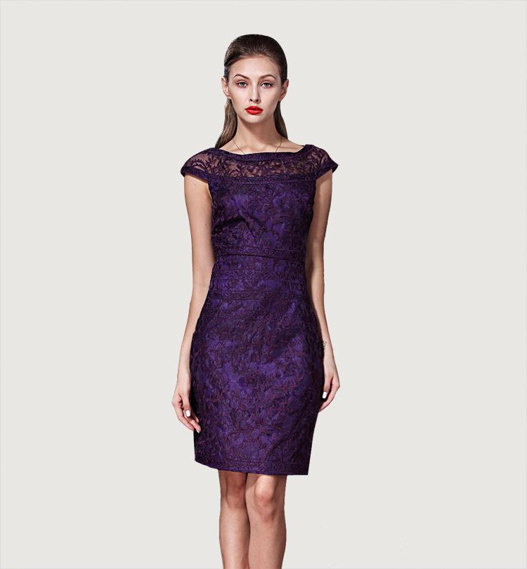 [REAL SHOT] 2015 vestidos New Lace Embroidery Women Dress Sexy Elegant Mini  Dresses Blue, Purple F-ML135Одежда и ак�е��уары<br><br><br>Aliexpress