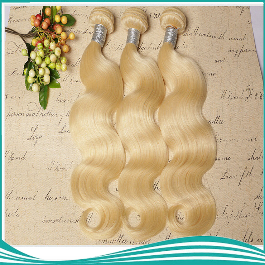 100% remy body wave hair weaves 613 light blonde color 10-26inch 100g/pcs 4pcs/lot no shed and tangle<br><br>Aliexpress