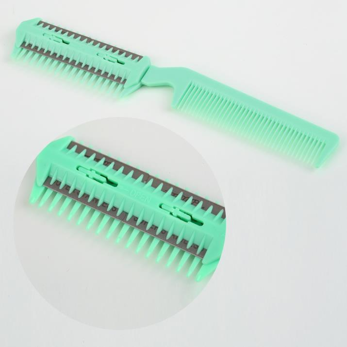 Top Quality!!! Popular Green Professional Home Thinning Hair Razor Comb Scissor Trimmer Hairdressing(China (Mainland))
