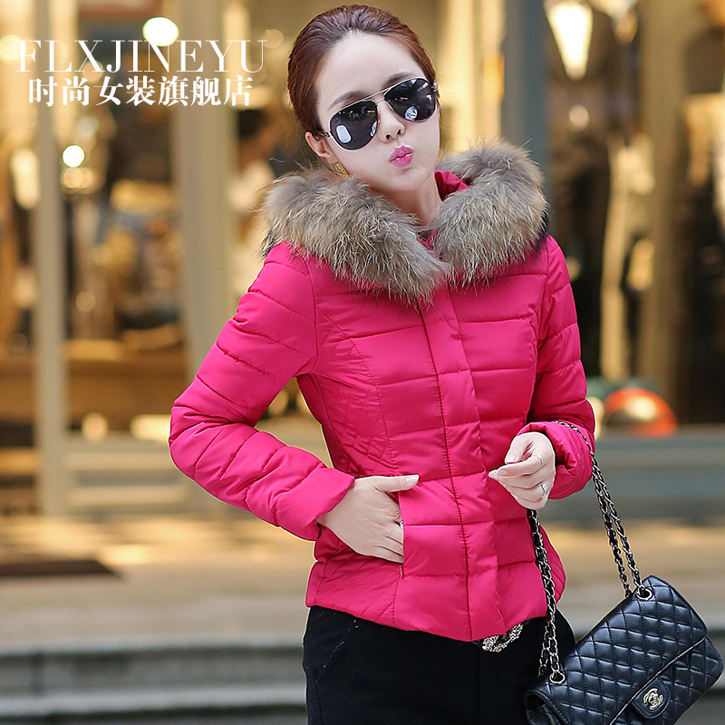 Large faux fur collar cotton wadded womens winter jacket women short design slim coat woman jackets female outeerwear coats - Life is Perfect store
