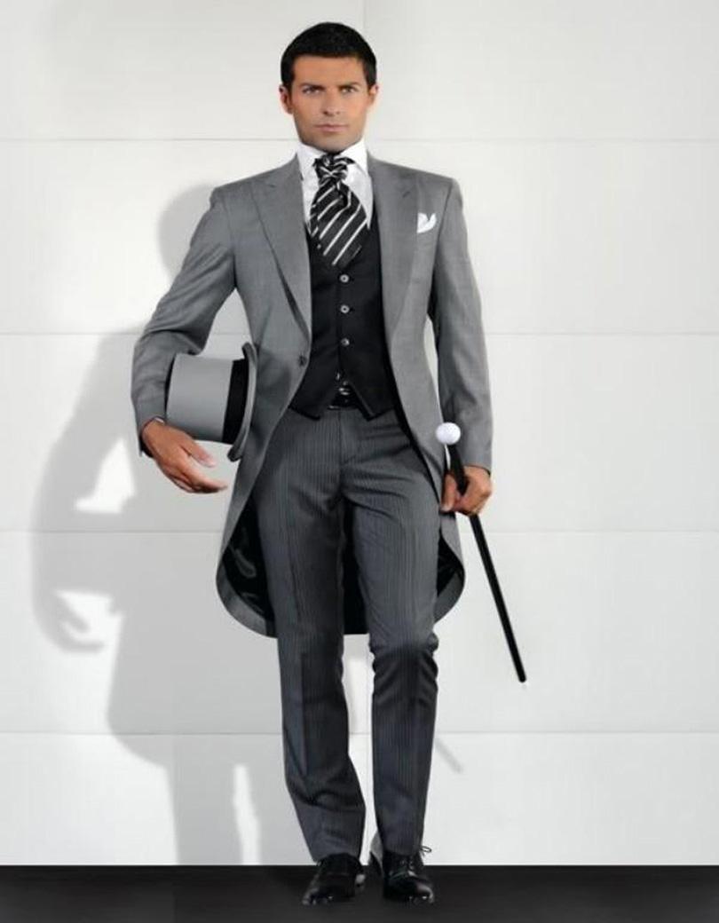 2016 New Stylish Top Quality Peak Lapel Groom Tuxedos Men's Wedding Dresses Prom Clothing Custom Made (Jacket+pants+Vest) M259(China (Mainland))
